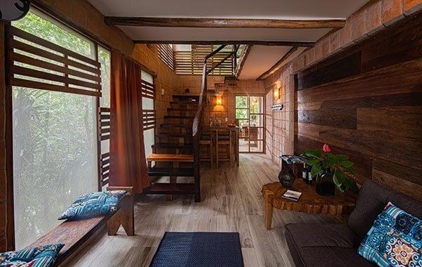 living room cuyabeno lodge
